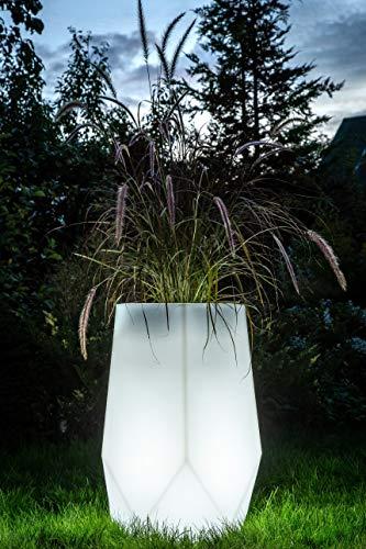 LED bloempot Bari Indoor / Outdoor XXL - bloempot met verlichting ideaal voor planten binnen en buiten - plantenpot - kamerscherm binnen of verhoogd bed buiten