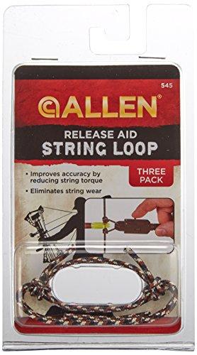 Allen Archery String Loop Release Aid (Pack of 3), Black