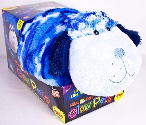 Pillow Pets, 18' Jumbo Glow Pets, Blue Camo Dog