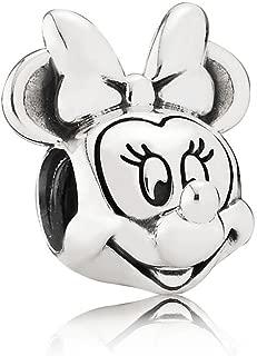 Disney Minnie Portrait Silver Charm 791587