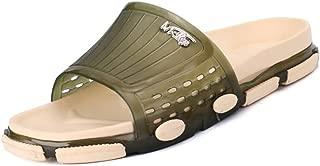 LFSP Classic Popular Sandals Beach Shoes Men's Women's Slippers Sandals Waterproof Wide Width Band Shower Shoes Open Toe Soft PVC Outsole Breathable Light Weight Becah Sandal Slipper Flats
