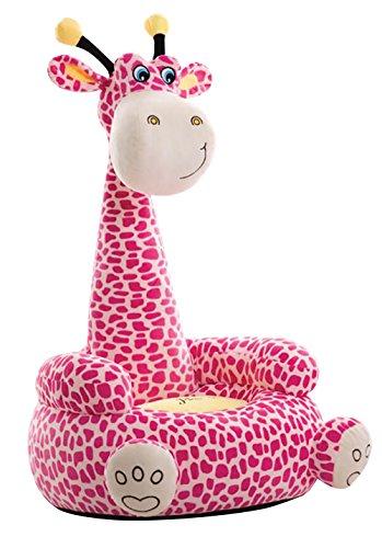 Liberty House Toys pluche giraf dier stoel, stof, roze