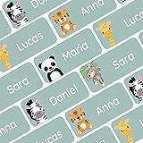 120 personalisierte Namensaufkleber (30x13 mm) zum Markieren von Kleidung und Gegenständen....