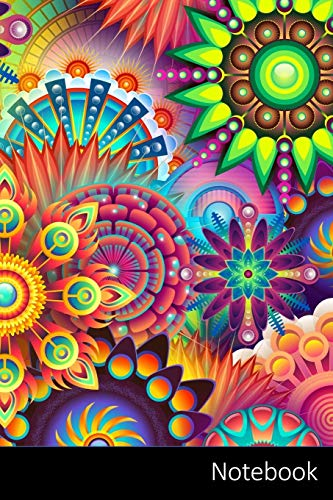 Notebook: Psychedelic, Colorful, Colors, Multi-Colored Notebook   Journal   Diary   Composition book - 6 x 9 inches (15,24 x 22,86 cm), 150 pages, glossy finish.