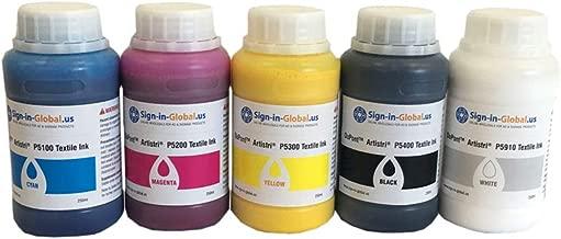 US Stock, Dupont Artistri CMYK+White Textile Ink DTG Ink - P5000+ Series-1.25L