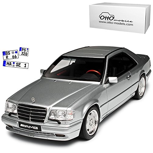 Mercedes-Benz E-Klasse C124 E36 AMG Coupe Silber 1984-1997 Nr 731 1/18 Otto Modell Auto