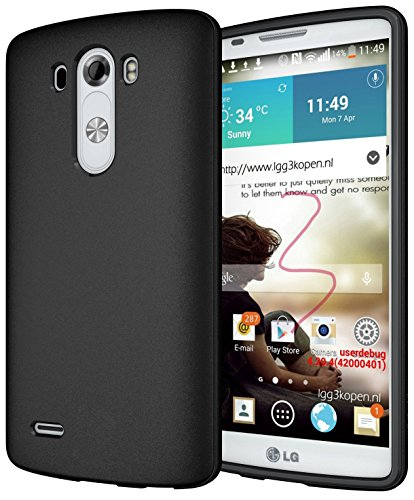 Diztronic Matte Back Black Flexible TPU Case for LG G3 (All Carriers) - Retail Packagin