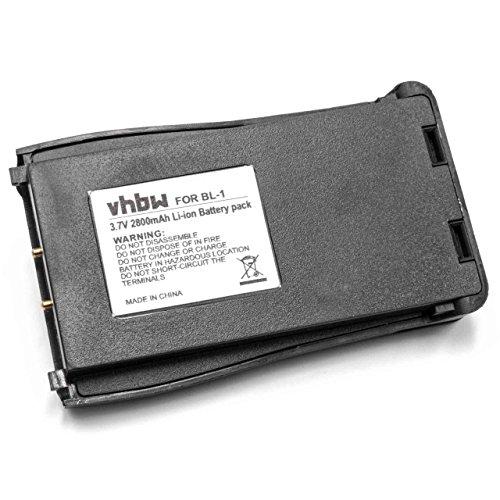 vhbw Li-Ion batería 2800mAh (3.7V) para Radio, walkie-Talkie Baofeng BF-666S, BF-777S, BF-888S, H777