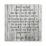 by Unbranded Canvas Painting Wall Art Words Wooden Framed Canvas Poster When I Say That I Love You More Retro Farmhouse Style Canvas Artwork for Home, Bedroom, Bathroom Wall Decor, Gift Poster