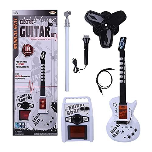 6 cuerdas Kids Guitar Guitar Karaoke Micrófono y conjunto de amplificadores, Máquina...