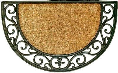 "Calloway Mills 100141830NP Plantation Arch Doormat, 18"" x 30"", Natural/Black"