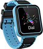 Jsbaby Kids Smartwatch Phone Music Player with SD Card Math Games,SOS Call,Camera,Alarm,Recorder,Calculator,Mp3,for Birthday Toys Children Boys Girls (Blue)