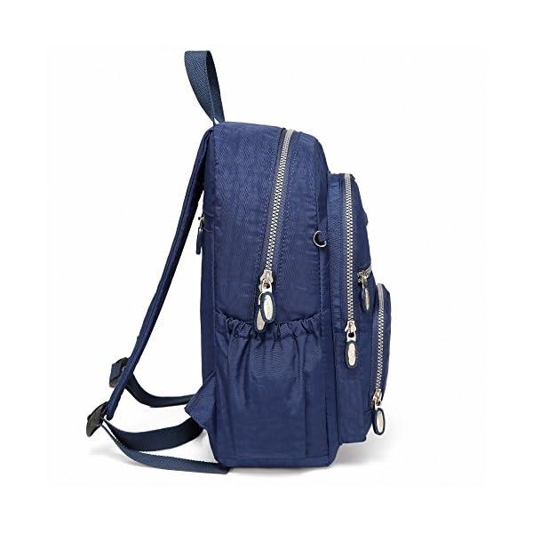 512ULek2X0L. SS600  - AOTIAN Mujer Peso Ligero Mochilas de Casual Juveniles Bolsas Escolares Bolsa de Uso Diario 9 litros Azul
