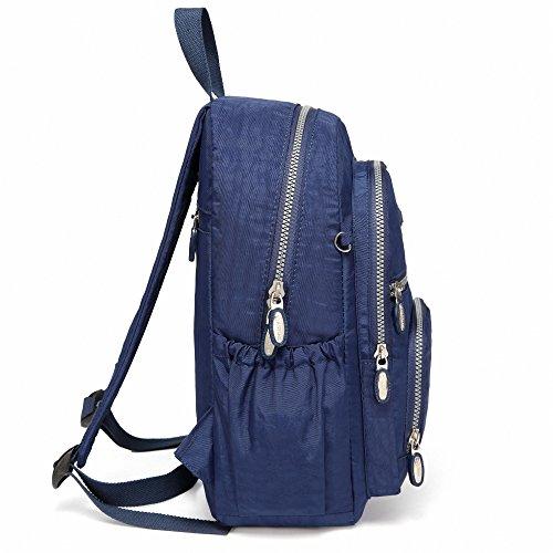 512ULek2X0L - AOTIAN Mujer Peso Ligero Mochilas de Casual Juveniles Bolsas Escolares Bolsa de Uso Diario 9 litros Azul