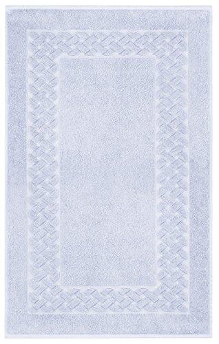 Lashuma Frottee Duschvorleger Veilchen - Lila, Edler Badezimmerteppich, Royal 50 x 80 cm