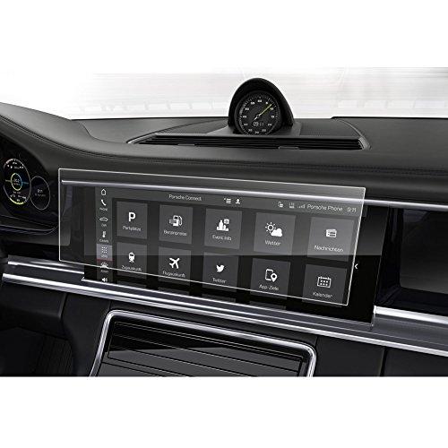 LFOTPP 2017 Porsche Panamera II 12.3 Inch PCM Videos Car Navigation Screen Protector Glass, Clear Tempered Glass Screen Protector Against Scratch High Clarity