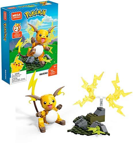 Mega Construx GDW30 - Pokemon Raichu Bauset mit 73 Bausteinen, Spielzeug ab 6 Jahren