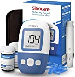 sinocare Safe AQ Angel Blutzuckermessgerät Set mit Teststreifen, [2020 Upgrade] Schmerzfrei, Schnell Ergebnis in 5s - mg/dL (set x50)