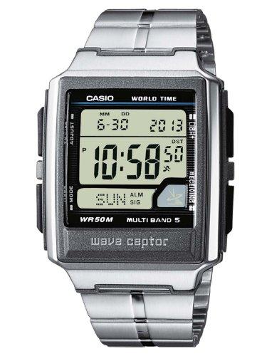 Casio WAVE CEPTOR Reloj Radiocontrolado, Caja de acero inoxidable y