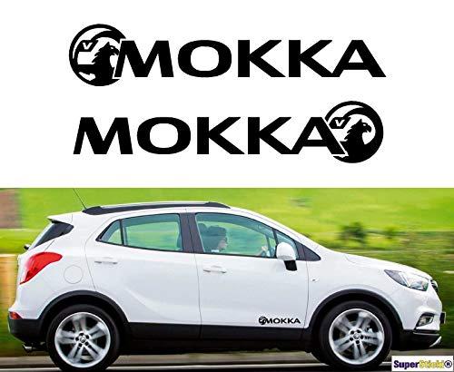 SUPERSTICKI 2X Vauxhall Mokka Opel 30cm Aufkleber Sticker Decal aus Hochleistungsfolie Aufkleber Autoaufkleber Tuningaufkleber Racingaufkleber Rennaufkleber von aus Hochleistungsfolie für alle