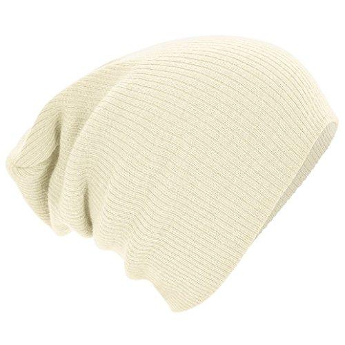 Beechfield Bonnet tombant Off White, Taille Unique