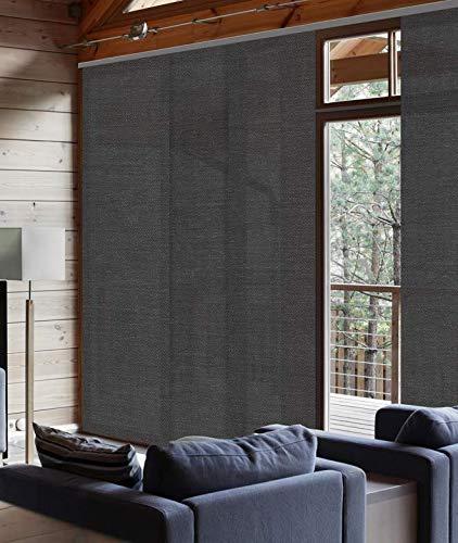 Panel japonés Tamizante 50 cm, poliéster, Chevrons Gris, 50 x 250cm