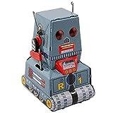 Superfreak Roboter - Robot R 1 - grau - Blechroboter - Retro Blechspielzeug