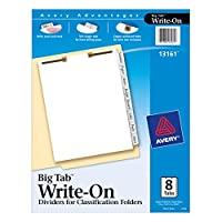 Avery Big Tab Write-On Dividers for Classification File Folders with 8-Side Tabs and 2 Holes at Top of Each Page (13161) by Avery [並行輸入品]