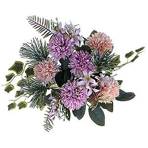 LA.PONEE Fake Hydrangeas Flowers – A Bouquet of Artificial Flowers for Wedding Decoration, Silk Flowers with Stems, Floral Centerpieces for Tables, Faux Spring Floral Arrangements (Purple)