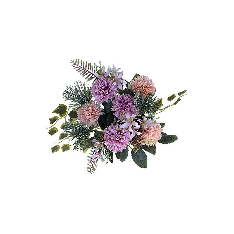 silk flower arrangements la.ponee fake hydrangeas flowers - a bouquet of artificial flowers for wedding decoration, silk flowers with stems, floral centerpieces for tables, faux spring floral arrangements (purple)