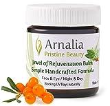 ARNALIA 100% Natural & Organic Wild Herbs, Eye & Face Cosmetic Skin Care Cream, Emollient, Anti Wrinkle, Anti Aging, Age Spot, Firming, Hydrating Balm, Collagen, Vitamin A,C,E,F Moisturizer, SPF 0.6oz