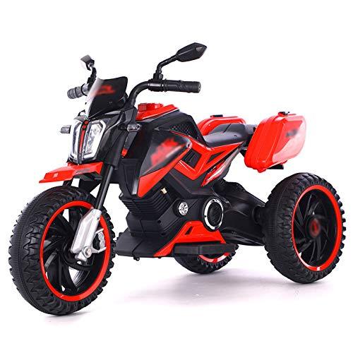 Las Motocicletas Eléctricas para Niños, Carros De Juguete Eléctricos De Tres Ruedas, Pueden Sentarse En Los Triciclos para Niños, Adecuados para Niños De 1 A 8 Años,Rojo