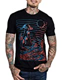 INTO THE AM Unnatural Forces Men's Graphic Tee Short Sleeve Cool Novelty Design Crewneck Graphic T-Shirt for Men (Black, X-Large)