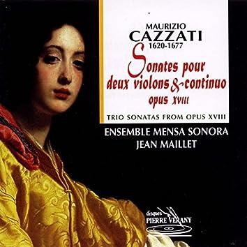 Cazzati : Sonates pour 2 violons & continuo, Op. 18