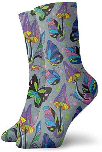 Love girl Herren Damen Crew Socken Magic Mushrooms 2 Fashion Neuheit Dry Athletic Socks Strümpfe 30cm