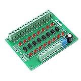 Icstation 24V to 5V 8 Channel Optocoupler Isolation Board Voltage Level Translator PNP NPN PLC Signal...