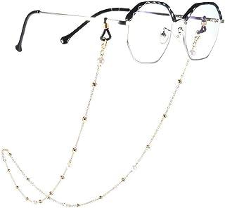 Yienate Bohême - Chaîne de lunettes pour femme avec chaîne de perles - Accessoire de fixation de lunettes - Sangle de fixa...