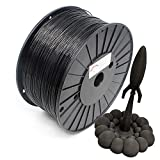 Reprapper Filamento PLA 1.75 3kg para Impresión 3D, PLA 1.75mm (± 0.03) para Impresora 3D, Negro