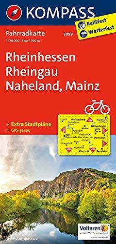 KOMPASS Fahrradkarte Rheinhessen, Rheingau, Naheland, Mainz: Fahrradkarte. GPS-genau. 1:70000 (KOMPASS-Fahrradkarten Deutschland, Band 3089)