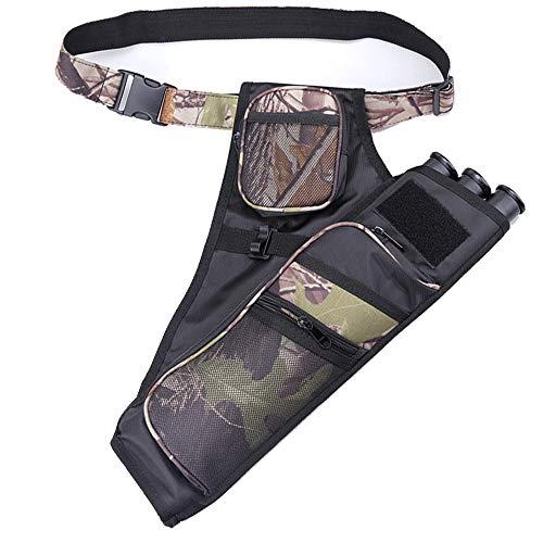 Archery Quiver 3-Tube Training Arrows Hip Waist Quiver Holder Shoulder Strap Carry Bag Hanged Shooting Target Quiver