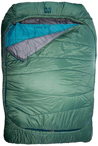 Kelty Unisex TRU. Doppelter Komfort-Schlafsack mit doppelter Breite (-7°), Farn