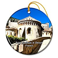 サンギレムルデザートフランス修道院クリスマスオーナメントセラミックシート旅行お土産ギフト