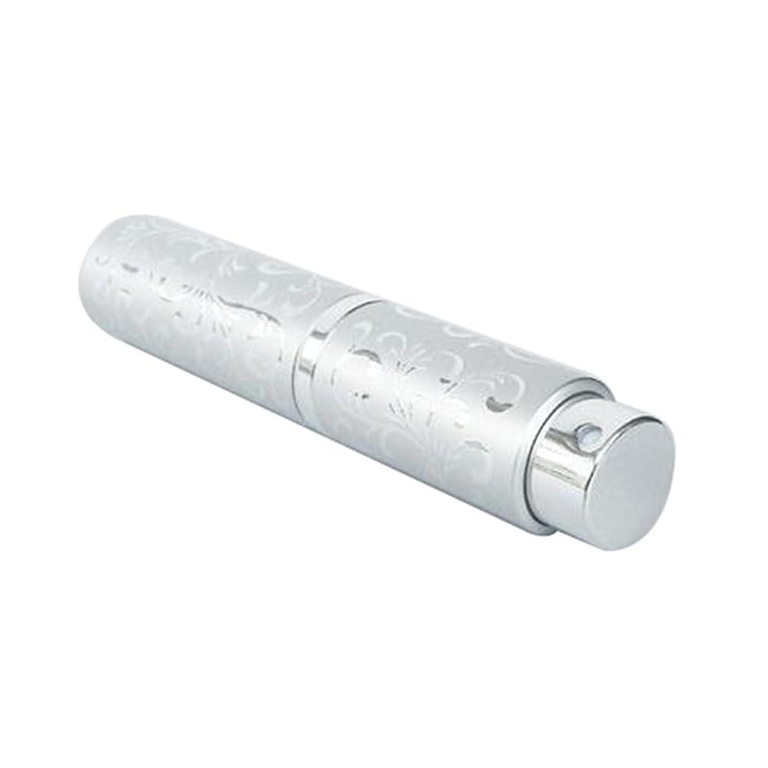 道路謎精巧なLing 香水ボトル 香水瓶 化粧水 アトマイザー 詰め替え容器 携帯用 軽量 便利 (シルバー)