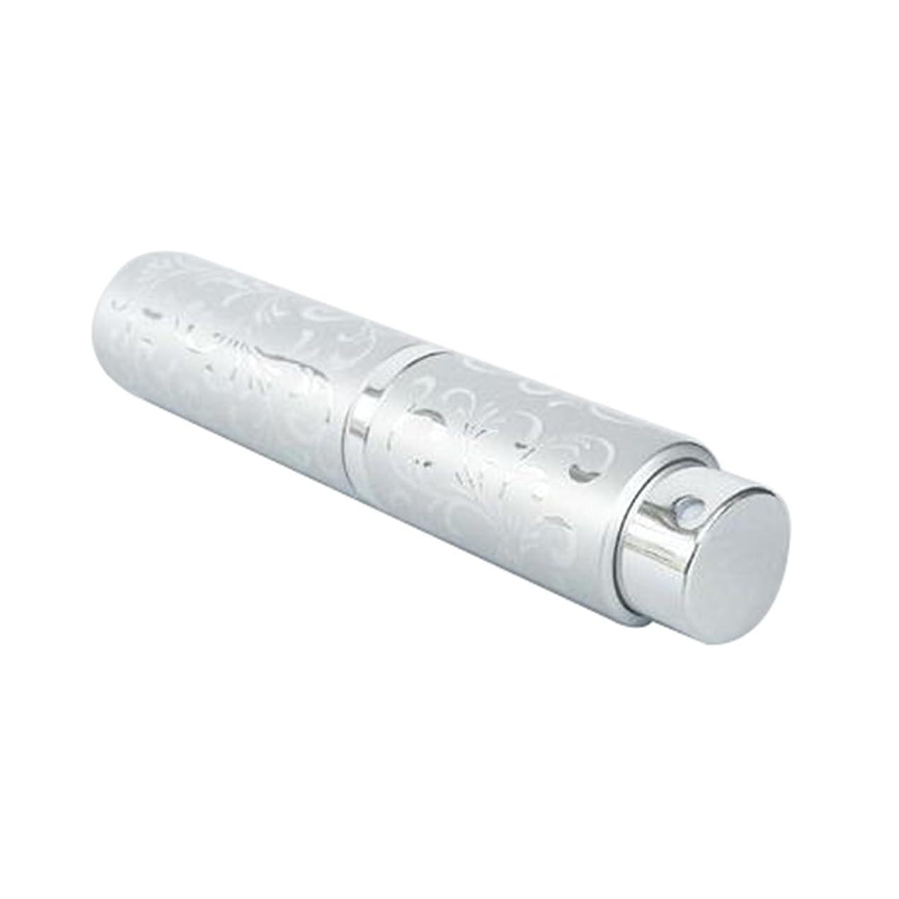冗談で決して複製Ling 香水ボトル 香水瓶 化粧水 アトマイザー 詰め替え容器 携帯用 軽量 便利 (シルバー)