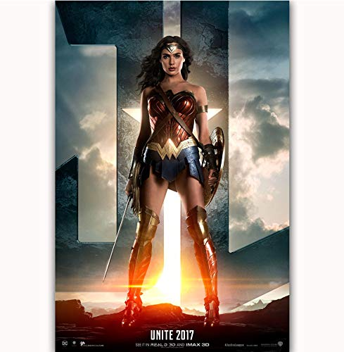 MZCYL Leinwand Malerei Wandkunst Bild League Superhero Wonder Woman Movie Poster Drucken Leinwand Malerei Ohne Rahmen 40 * 60 cm