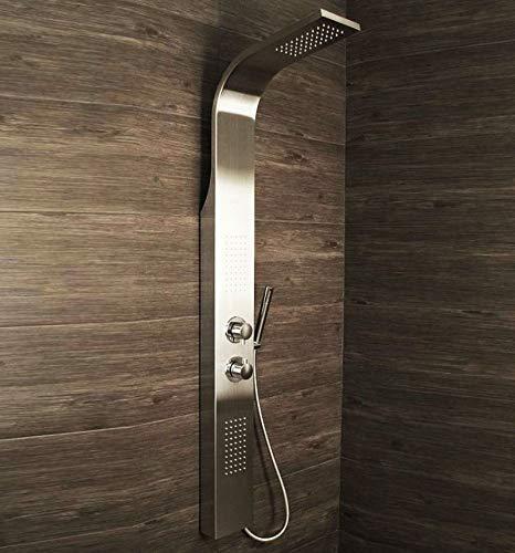 Shower Panel Column Tower w/Body Jets + Waterfall Bathroom Show