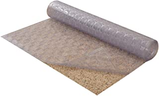Resilia - Mosaic Pattern Clear Vinyl Plastic Floor Runner/Protector for Low Pile Carpet - Non-Skid (27 Inches Wide x 12 Feet Long)
