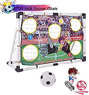 Portzon Portable Soccer Goal Set,Soccer Goals for...