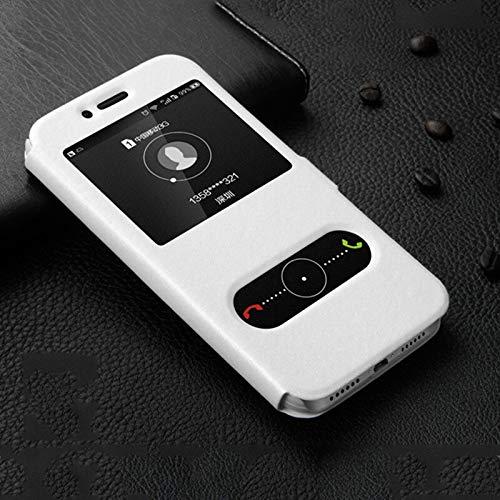 HHF Teléfono móvil Accesorios Para Huawei Honor 9x 20 Pro 8s 8x Max 8A 8C Disfruta 9 9s, la ventana de visualización de piel cubierta de la caja Para Huawei Y3 Y5 Y6 Y7 Y8 Y9 primer Pro 2019 2017 2018
