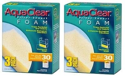 Aquaclear Foam Inserts, 3-Pack (6-Pack, 30-Gallon)